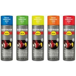 Tamsoje šviečiantys dažai, 2200 HARD HAT® Topcoats Fluorescent, 500 ml